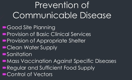 communicable diseases prevention