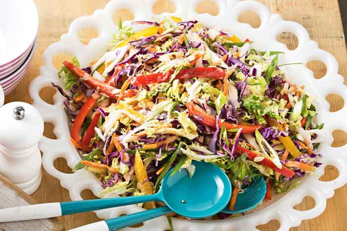 Rainbow-slaw-with-Tahini-dressing