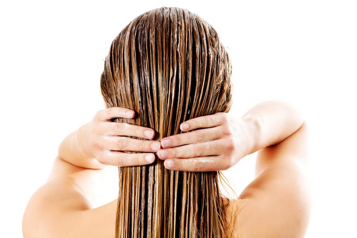 Indulekha hair oil as a hair mask