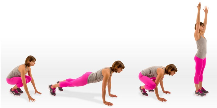 cardio for weight loss-burpee