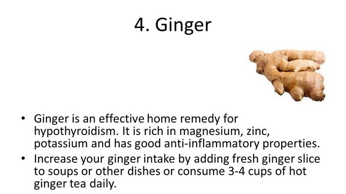 ginger as hypothyroidism diet