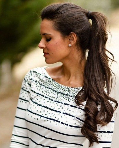 Classic High Ponytail - Pompous Long Hairstyle For Women