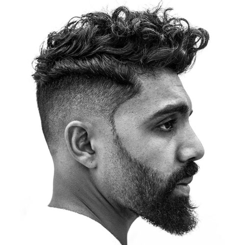 Curly Pompadour - Haircuts For Indian Men With Curly Hair
