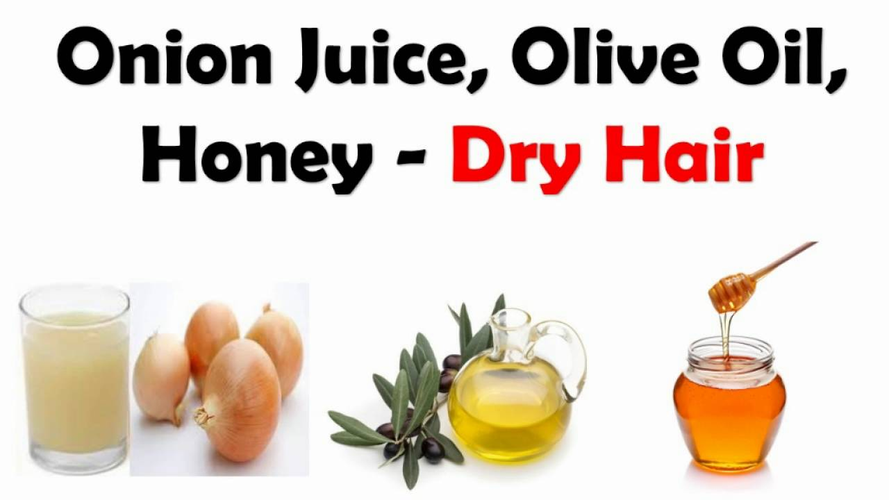 olive oil+onion+honey for dry hair-homemade onion hair oil