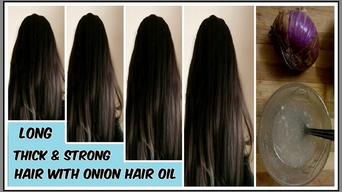 strong hair with onion hair oil