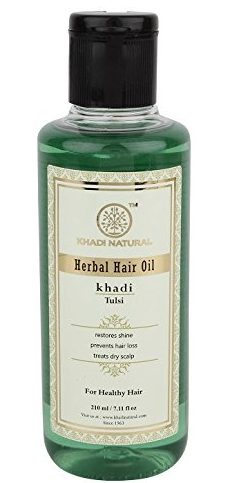 Khadi Natural - Tulsi Herbal Hair Oil - Best Hair Oil For Hair Growth And Thickness
