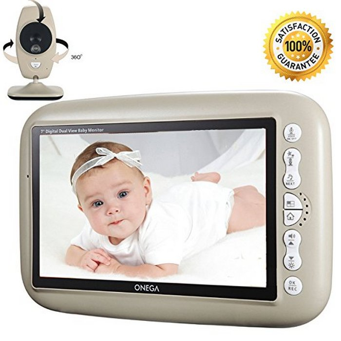 onega video baby monitor-front view