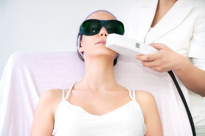 Process of laser hair removal treatment